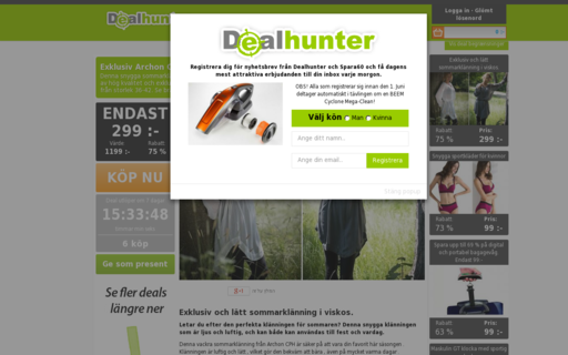 Access dealhunter.se using Hola Unblocker web proxy