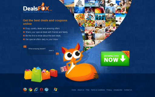 Access deals-fox.com using Hola Unblocker web proxy