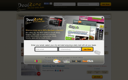 Access dealzone.co.za using Hola Unblocker web proxy