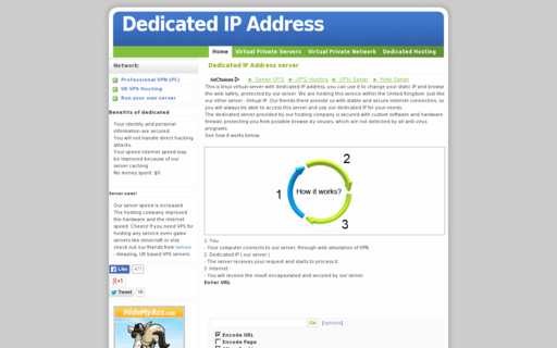 Access dedicatedipaddress.net using Hola Unblocker web proxy