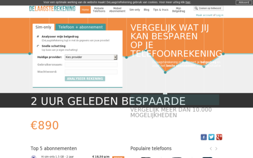 Access delaagsterekening.nl using Hola Unblocker web proxy