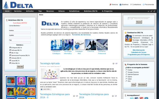 Access deltaasesores.com using Hola Unblocker web proxy
