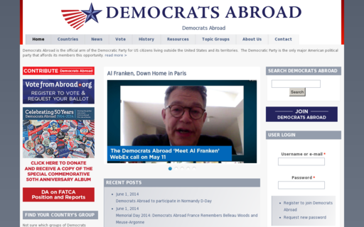 Access democratsabroad.org using Hola Unblocker web proxy