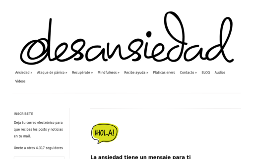 Access desansiedad.com using Hola Unblocker web proxy