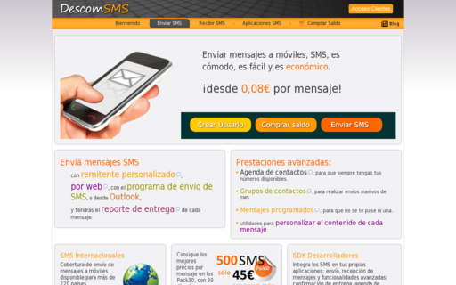 Access descomsms.com using Hola Unblocker web proxy