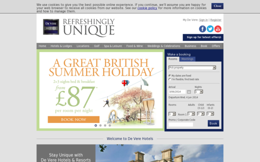 Access devere-hotels.co.uk using Hola Unblocker web proxy