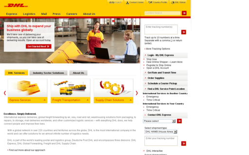 Access dhl-usa.com using Hola Unblocker web proxy