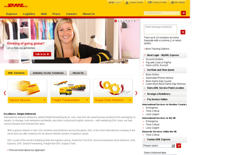 Access dhl.co.uk using Hola Unblocker web proxy