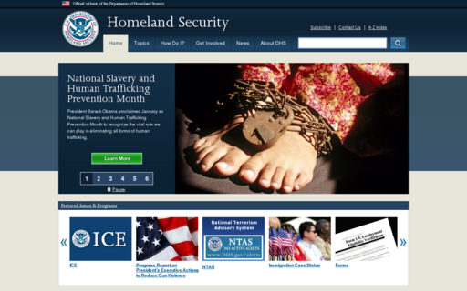 Access dhs.gov using Hola Unblocker web proxy