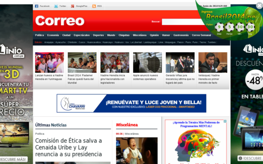 Access diariocorreo.pe using Hola Unblocker web proxy