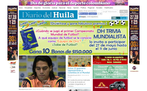Access diariodelhuila.com using Hola Unblocker web proxy