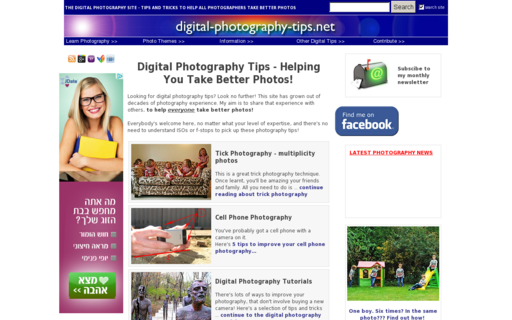 Access digital-photography-tips.net using Hola Unblocker web proxy