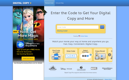Access digitalcopyplus.com using Hola Unblocker web proxy