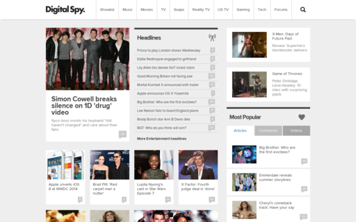 Access digitalspy.co.uk using Hola Unblocker web proxy