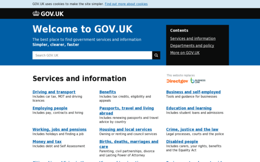 Access direct.gov.uk using Hola Unblocker web proxy