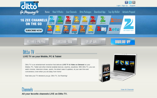 Access dittotv.com using Hola Unblocker web proxy