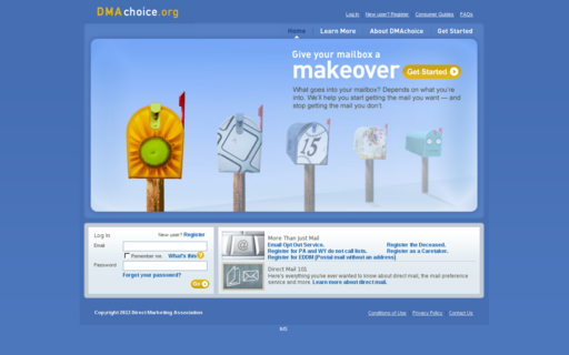 Access dmachoice.org using Hola Unblocker web proxy