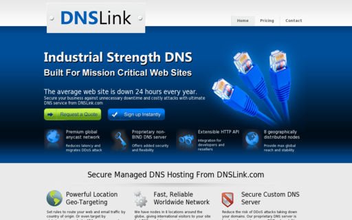 Access dnslink.com using Hola Unblocker web proxy