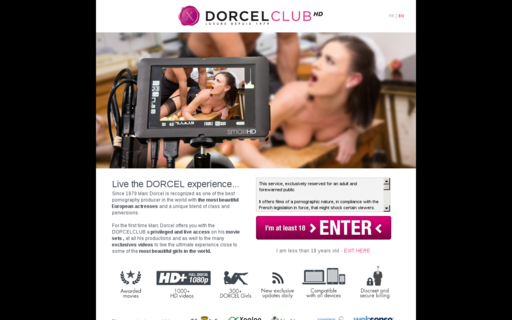 Access dorcelclub.com using Hola Unblocker web proxy