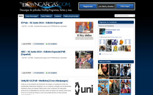 Access downcargas.com using Hola Unblocker web proxy
