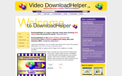 Access downloadhelper.net using Hola Unblocker web proxy
