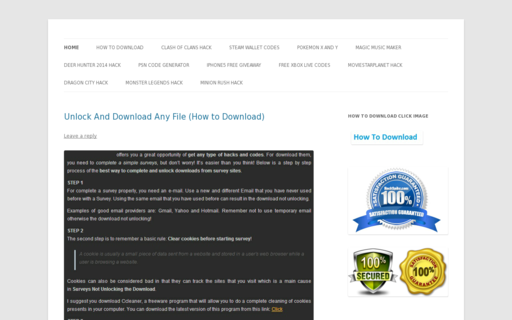 Access downloadzworking.com using Hola Unblocker web proxy
