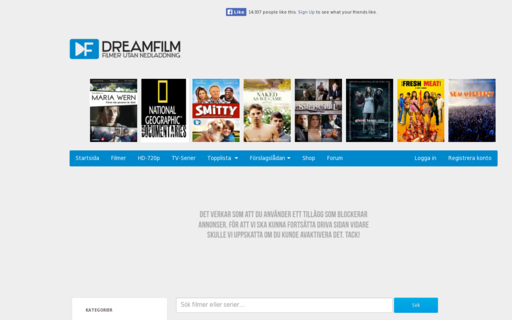 Access dreamfilm.se using Hola Unblocker web proxy