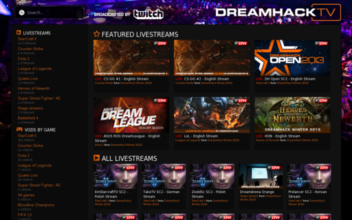 Access dreamhack.tv using Hola Unblocker web proxy