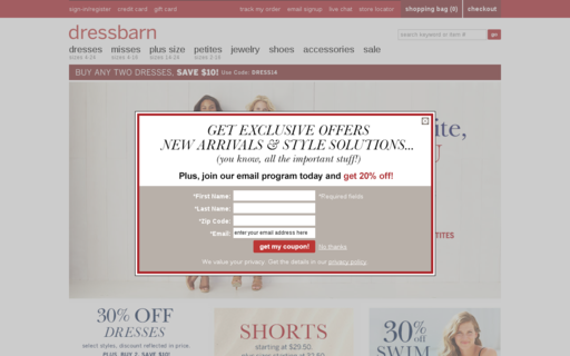 Access dressbarn.com using Hola Unblocker web proxy