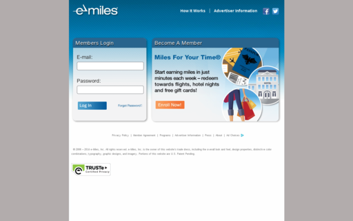 Access e-miles.com using Hola Unblocker web proxy