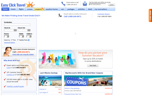 Access easyclicktravel.com using Hola Unblocker web proxy