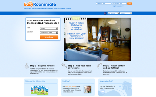 Access easyroommate.co.nz using Hola Unblocker web proxy