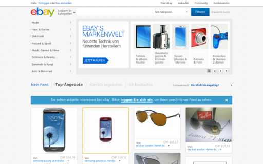 Access ebay.ch using Hola Unblocker web proxy