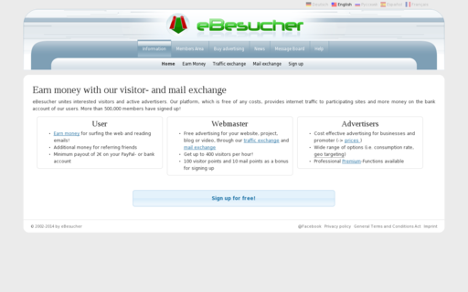 Access ebesucher.com using Hola Unblocker web proxy