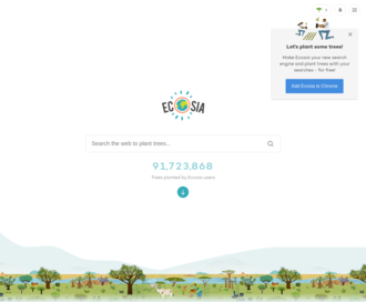 Access ecosia.org using Hola Unblocker web proxy