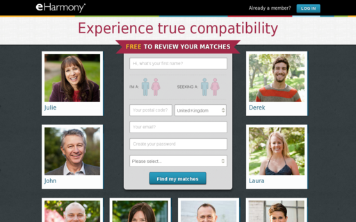 Access eharmony.co.uk using Hola Unblocker web proxy
