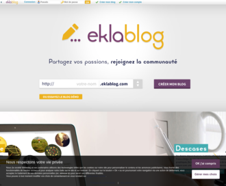 Access eklablog.com using Hola Unblocker web proxy