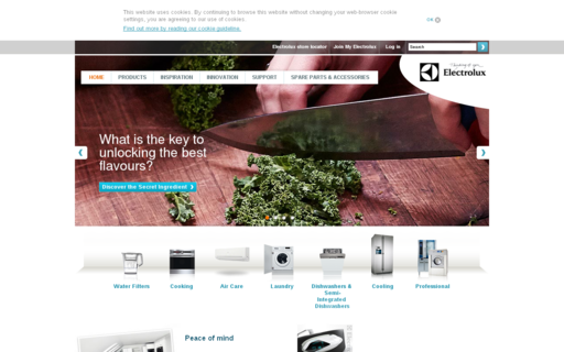 Access electrolux.co.uk using Hola Unblocker web proxy