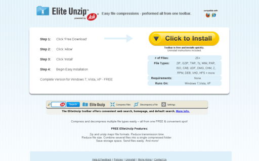 Access eliteunzip.com using Hola Unblocker web proxy