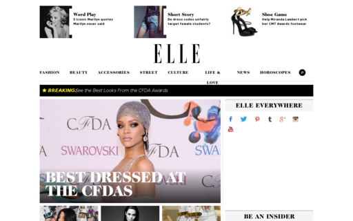Access elle.com using Hola Unblocker web proxy