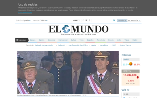 Access elmundo.es using Hola Unblocker web proxy