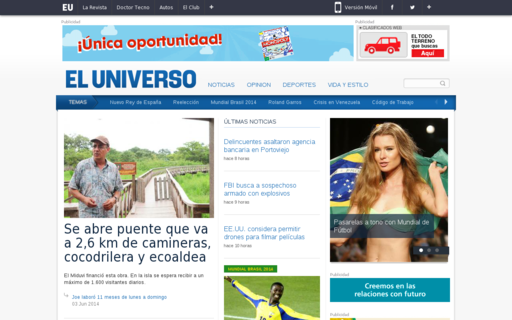Access eluniverso.com using Hola Unblocker web proxy