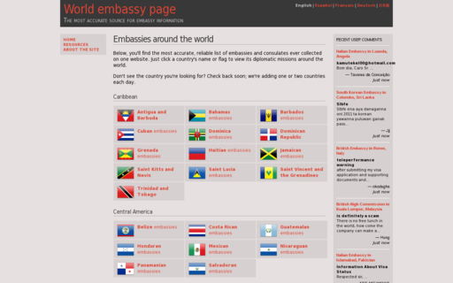 Access embassy-finder.com using Hola Unblocker web proxy
