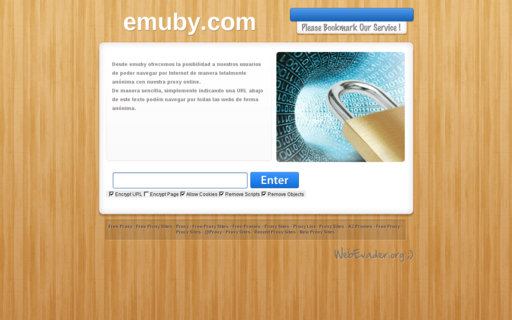 Access emuby.com using Hola Unblocker web proxy