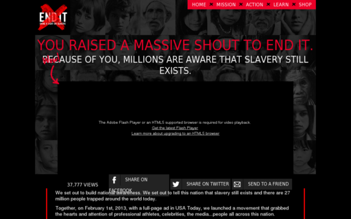 Access enditmovement.com using Hola Unblocker web proxy