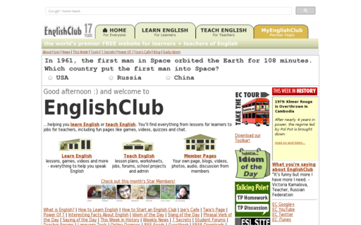 Access englishclub.com using Hola Unblocker web proxy