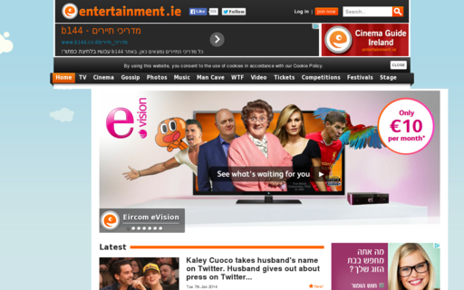 Access entertainment.ie using Hola Unblocker web proxy