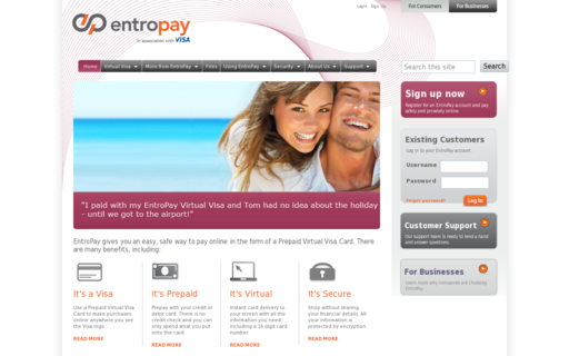 Access entropay.com using Hola Unblocker web proxy