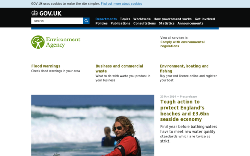 Access environment-agency.gov.uk using Hola Unblocker web proxy