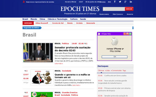 Access epochtimes.com.br using Hola Unblocker web proxy